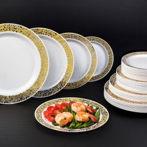 Gold Lace Plates