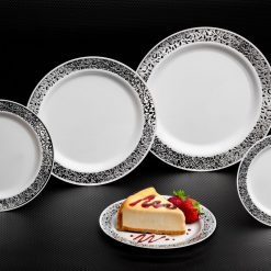 Silver Lace Plates