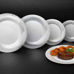 Silver Swirl Plates
